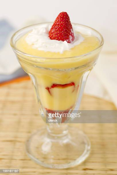 Fresh Strawberry Parfait Dessert