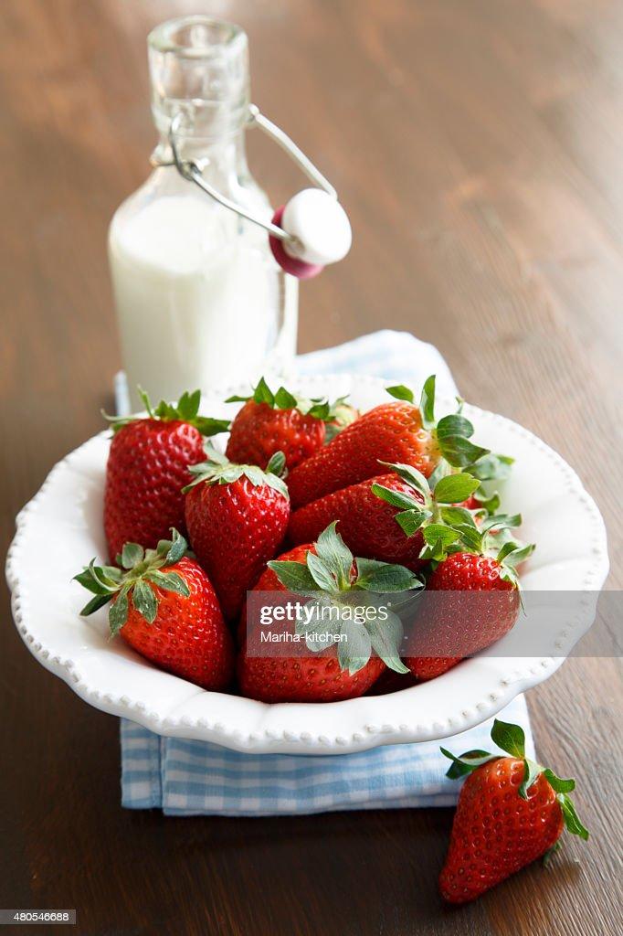 Frische Erdbeeren : Stock-Foto