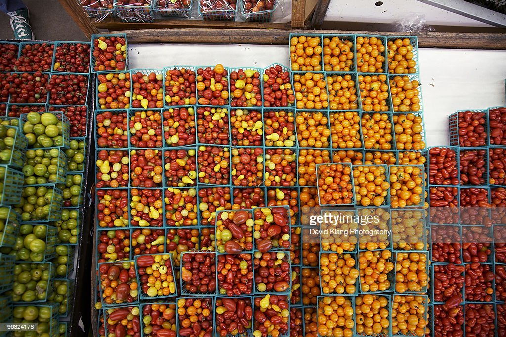 Fresh summer produce at the market : Stock Photo