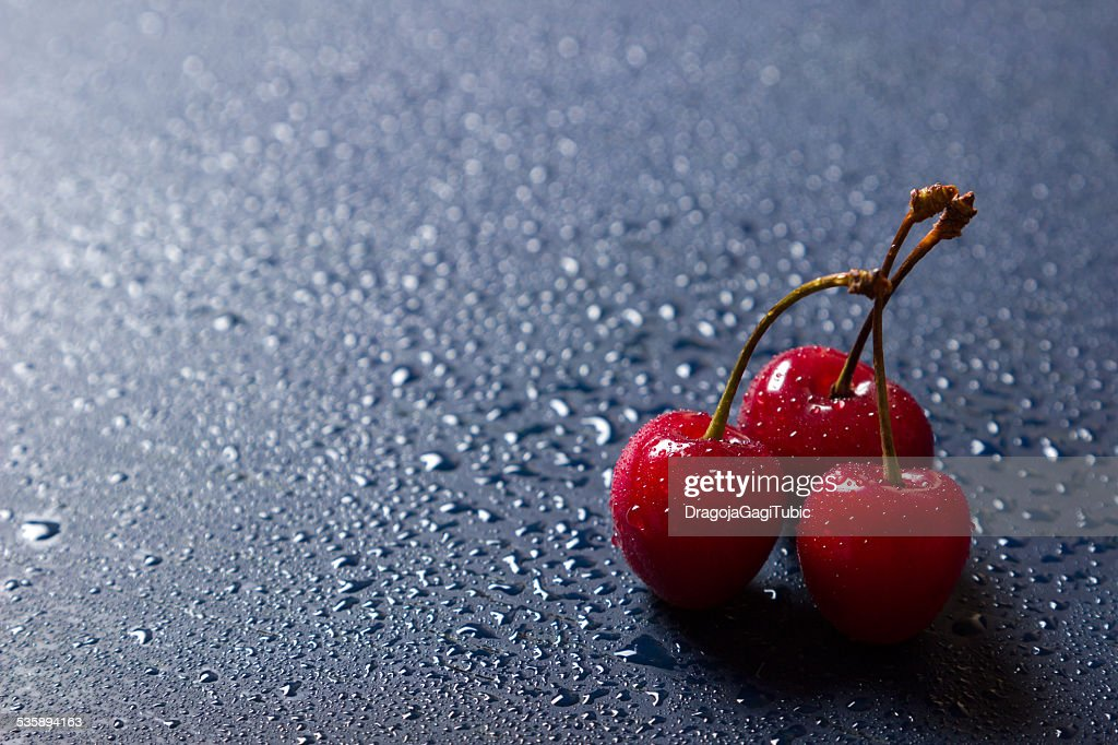 Fresh sweet cherries : Stock Photo