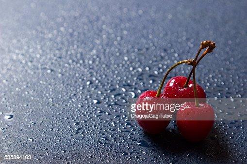 Fresh sweet cherries : Stock Photo