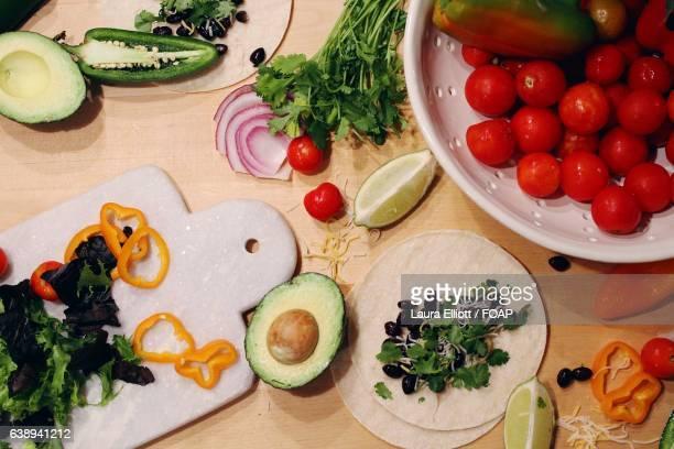 Fresh Taco ingredients