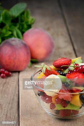 Fresh tasty fruit salad : Stock Photo