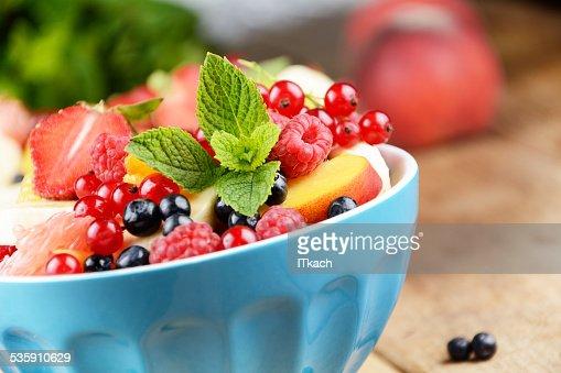Fresh tasty fruit salad : Stock Photo