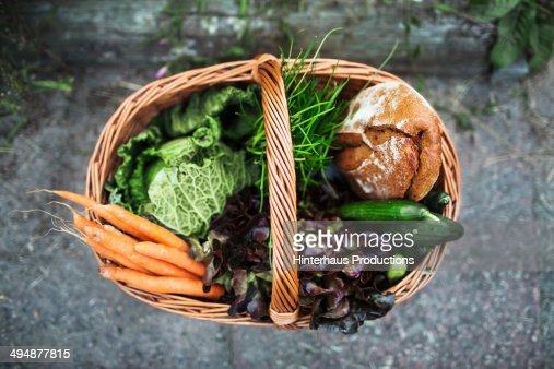 Fresh Vegetable And Food in Basket