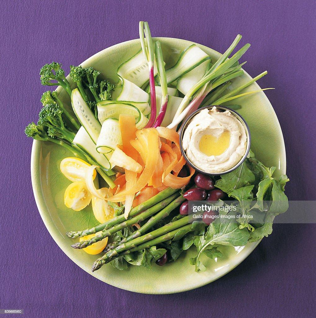 Fresh Vegetable Crudites : Stock Photo