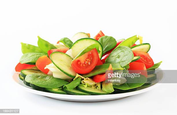 Fresh vegetable salad on a plate
