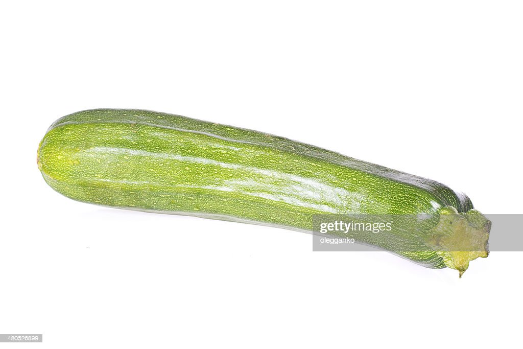 fresh vegetable zucchini isolated on white background : Stock Photo