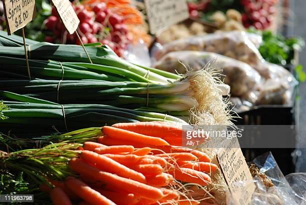 fresh vegetables at Salamanca market