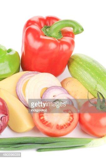 Fresh vegetables collage. : Stock Photo