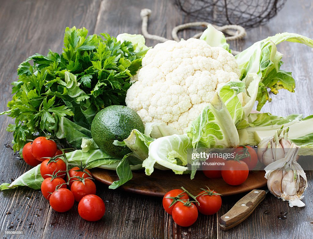 Fresh vegetables from farmers market : Stock Photo