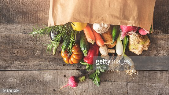 Fresh vegetables healthy food concept : Stock Photo