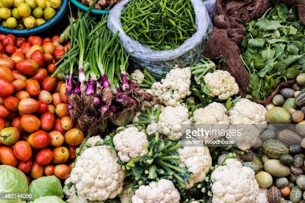 Fresh vegetables on display