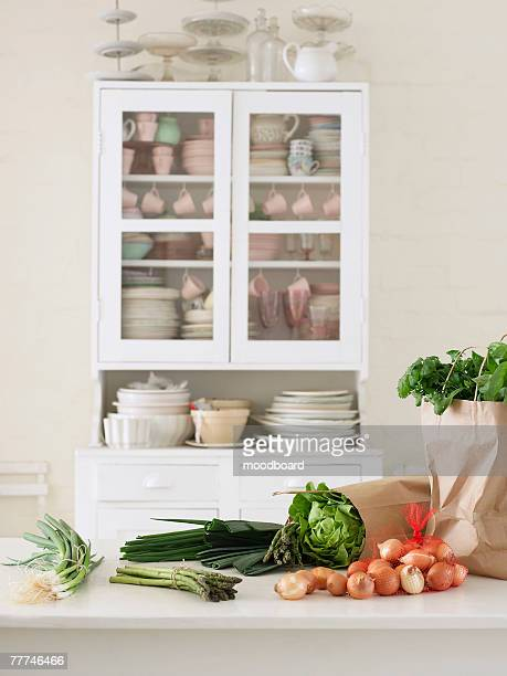 Fresh Vegetables on Kitchen Counter