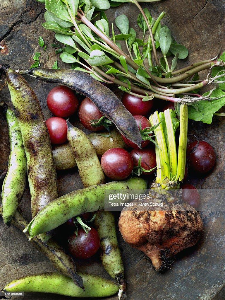 Fresh vegetables on table : Stock Photo