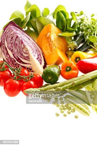 Fresh vegetables set : Stock Photo