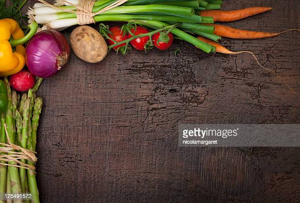 Fresh Vegetables: with copy space