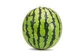 Fresh watermelon isolated on white background.