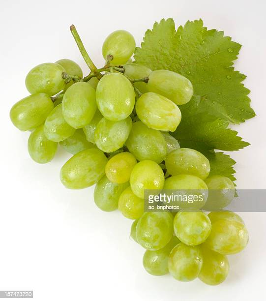 Fresh white grapes