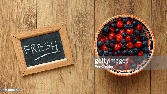 Fresh written : Stock Photo