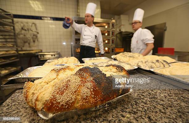 Freshly baked and unbaked challah is seen in a kitchen during the Mega Challah Bake at the local Chabad community's Kosher Festival on March 15 2015...