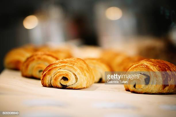 Freshly Baked Chocolate Croissants