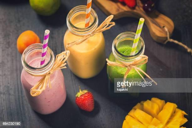 Freshly Blended Fruit Smoothies