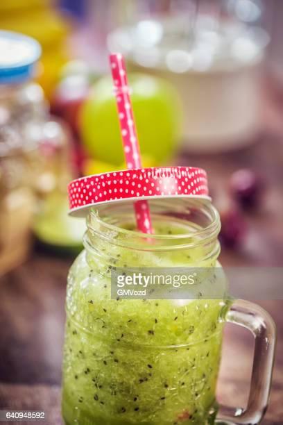 Freshly blended Green Smoothie