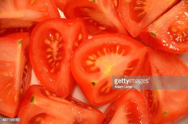 Freshly chopped tomatoes