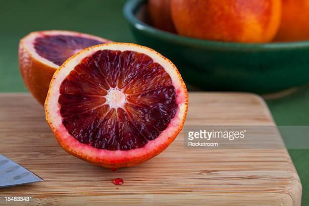 Freshly cut blood orange