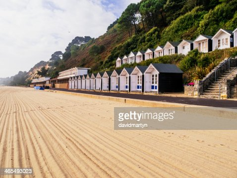 Freshly raked sand on a private beach : Stock Photo
