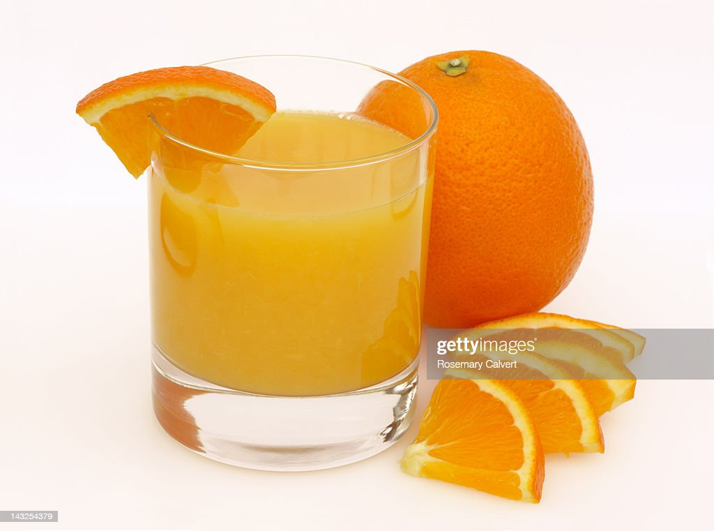 Freshly squeezed orange juice, ready to drink