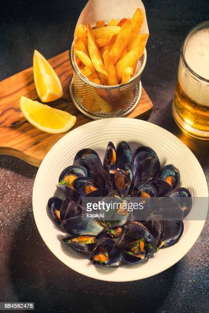 Freshly Steamed Mussels