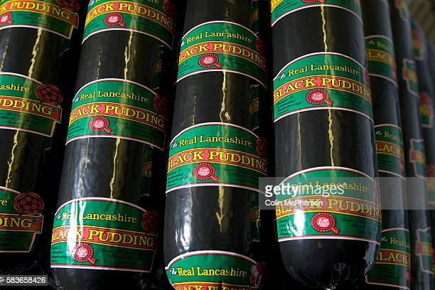 Freshlymade traditional Bury black pudding stored at R S Ireland's premises at Haslingden Lancashire England which the company is taking to the...