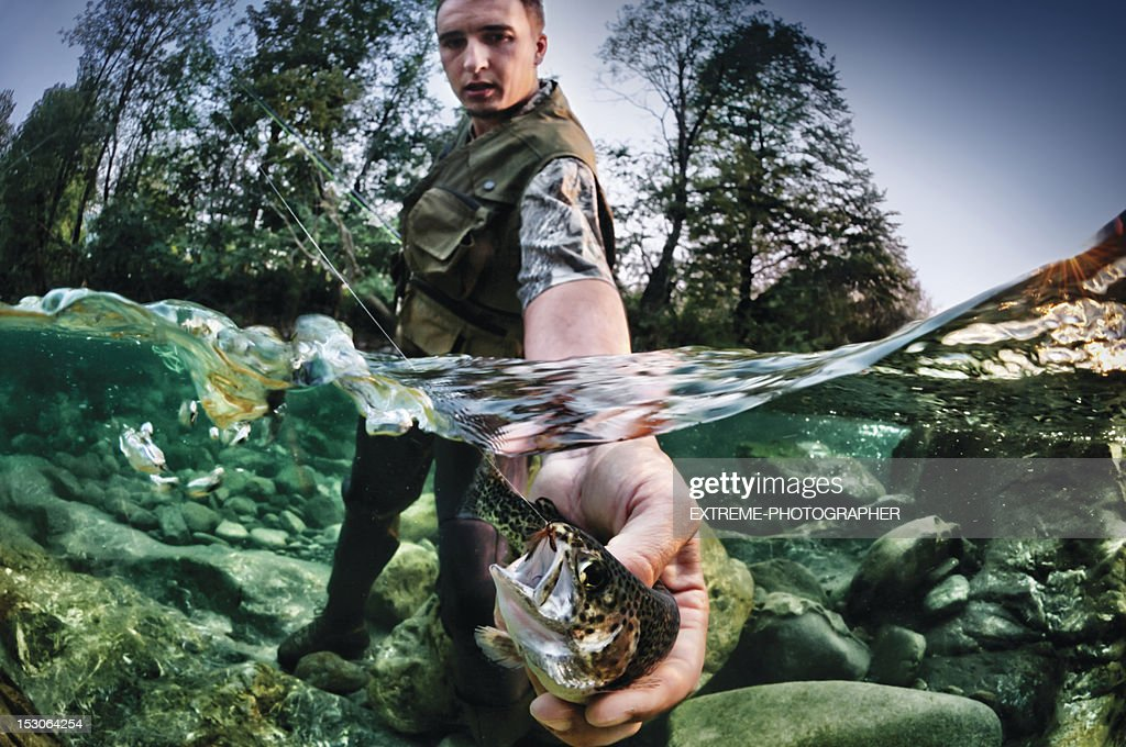 Freshwater fishing : Stock Photo