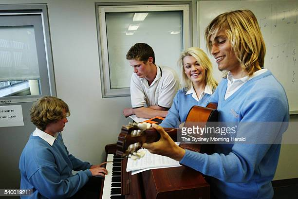 Freshwater High School students in the music room get in a jam session from left Tom Mulray Tyler Saunders Vicky Morgan and Milan Pulvermacher 19...