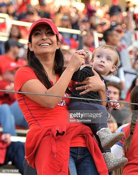 Fresno State fans take in the game between the Fresno State Bulldogs and the Hawaii Rainbow Warriors on November 19 2016 Hawaii defeated the Bulldogs...