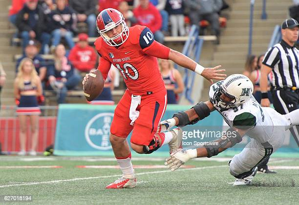 Fresno State quarterback Zach Kline during the game between the Fresno State Bulldogs and the Hawaii Rainbow Warriors on November 19 2016 Hawaii...