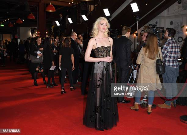 Freya Mavor attends the Gala screening of 'The Sense of an Ending' at Picturehouse Central on April 6 2017 in London England
