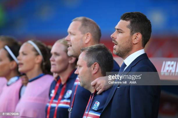 Freyr Alexandersson manager / head coach of Iceland Women during the UEFA Women's Euro 2017 match between France and Iceland at Koning Willem II...