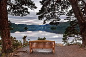 A view of Derwentwater from Friars Crag, Lake District, England