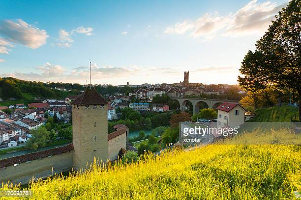 Fribourg city in spring