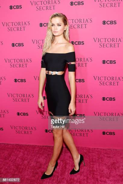 Frida Aasen attends the Victoria's Secret Viewing Party Pink Carpet celebrating the 2017 Victoria's Secret Fashion Show in Shanghai at Spring Studios...
