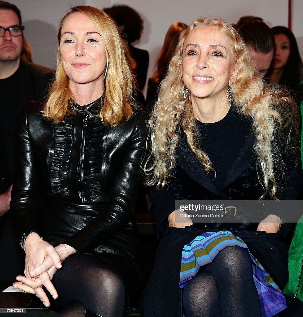 <a gi-track='captionPersonalityLinkClicked' href=/galleries/search?phrase=Frida+Giannini&family=editorial&specificpeople=559380 ng-click='$event.stopPropagation()'>Frida Giannini</a> and <a gi-track='captionPersonalityLinkClicked' href=/galleries/search?phrase=Franca+Sozzani&family=editorial&specificpeople=639425 ng-click='$event.stopPropagation()'>Franca Sozzani</a> attend the International Woolmark Prize as part of Milan Fashion Week Womenswear Autumn/Winter 2014 on February 21, 2014 in Milan, Italy.