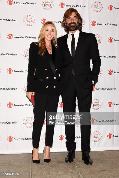 Frida Giannini and Patrizio Di Marco attend Save The Children Charity Party on November 15 2017 in Milan Italy