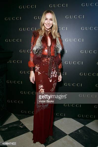 Frida Giannini attends Gucci Dinner Party on November 13 2014 in Moscow Russia
