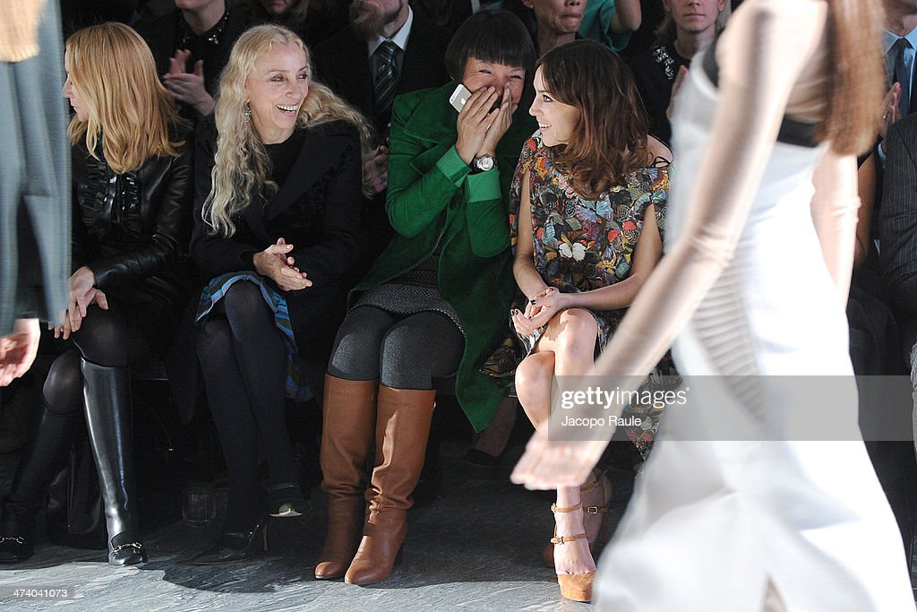 Frida Giannini Franca Sozzani Angelica Cheung and Alexa Chung attend International Woolmark Prize during Milan Fashion Week Womenswear Autumn/Winter...