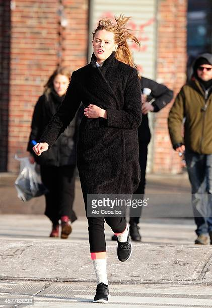 Frida Gustavsson is seen on December 18 2013 in New York City
