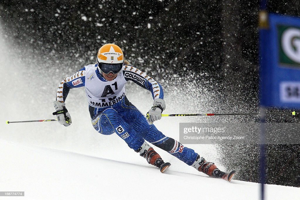 Frida Hansdotter of Sweden competes during the Audi FIS Alpine Ski World Cup Women's Giant Slalom on December 28, 2012 in Semmering, Austria.