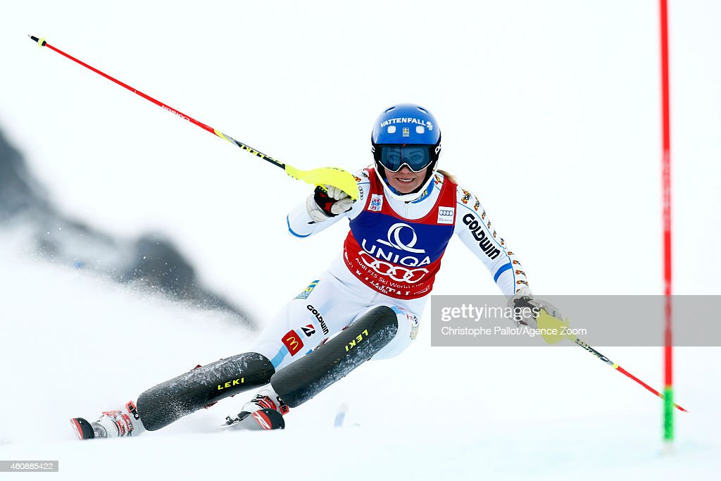 Frida Hansdotter of Sweden competes during the Audi FIS Alpine Ski World Cup Women's Slalom on December 29, 2014 in Kuehtai in Tirol, Austria.